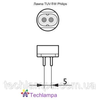 Лампа бактерицидная TUV 8W Philips