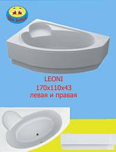 Ванна Акриловая Ассиметричная Leoni  170х110х43 см.
