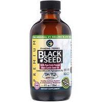 Amazing Herbs, Black Seed, 100% чистое масло семян черного тмина холодного отжима,