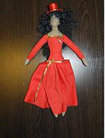 Текстильная авторская кукла ручной работы для интерьера, Оригинальный подарок на 8 марта девушке