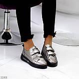 Кросівки - кеди жіночі нікель/ бронза на липучці натуральна шкіра весна/ осінь, фото 8