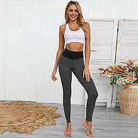 Спортивные леггинсы женские лосины для фитнеса - Черный. Женские штаны с PUSH UP эффектом размер M - XXL