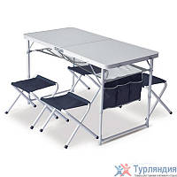 Набор мебели Pinguin Set Table + 4 Stools Серый