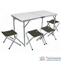 Набор мебели Pinguin Set Table + 4 Stools Камуфляжный