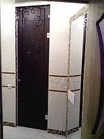 Декоративная стеклянная дверь