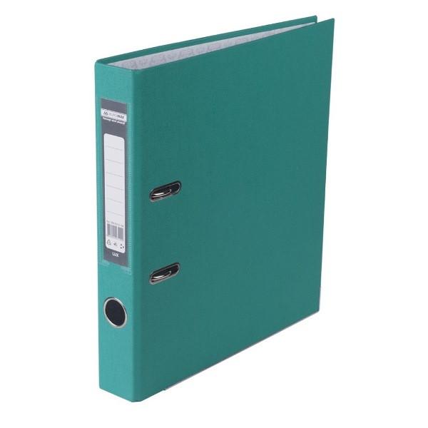 Оптовий Набір: Папка реєстратор LUX одностороння JOBMAX A4, 50 мм, бірюзова, 10 шт. + Календар