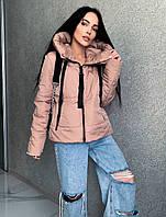 Стильна демісезонна куртка з стрічкою