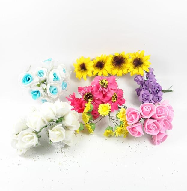 Цветы букетики