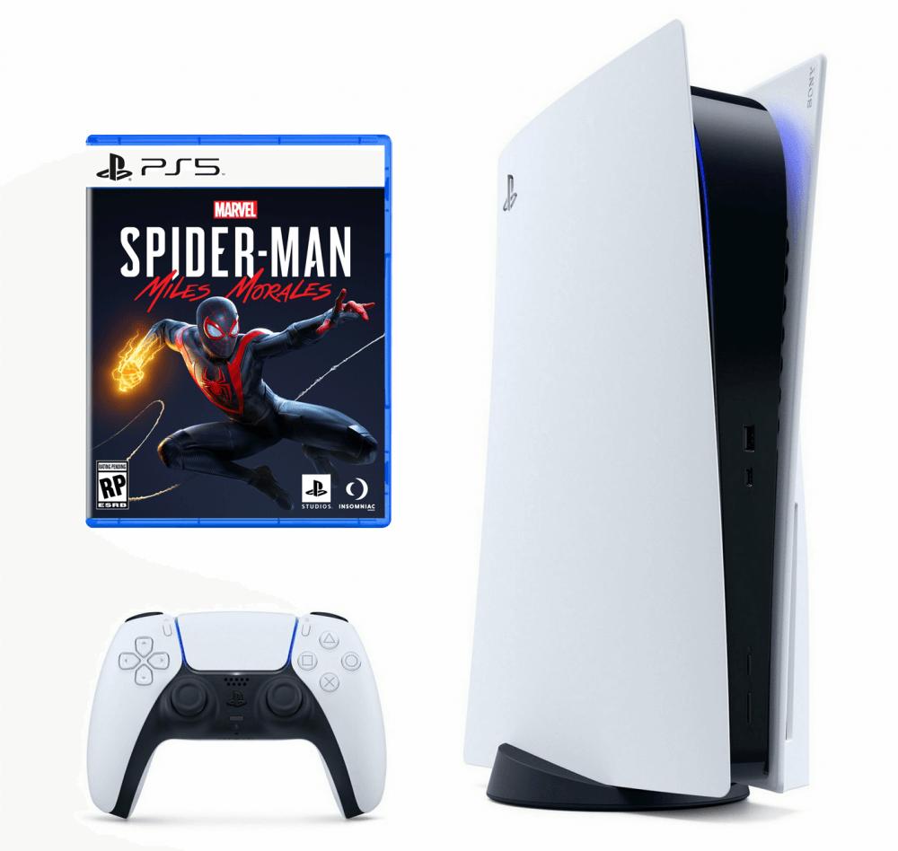 Стационарная игровая приставка SONY PLAYSTATION 5 + SPIDER-MAN