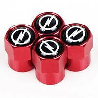 Захисні ковпачки на ніпель для Опель Alitek Short Red Opel (4 шт)