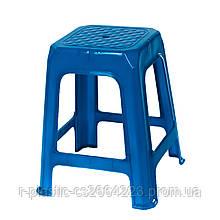 Табурет пластиковий 360*360*435мм синій