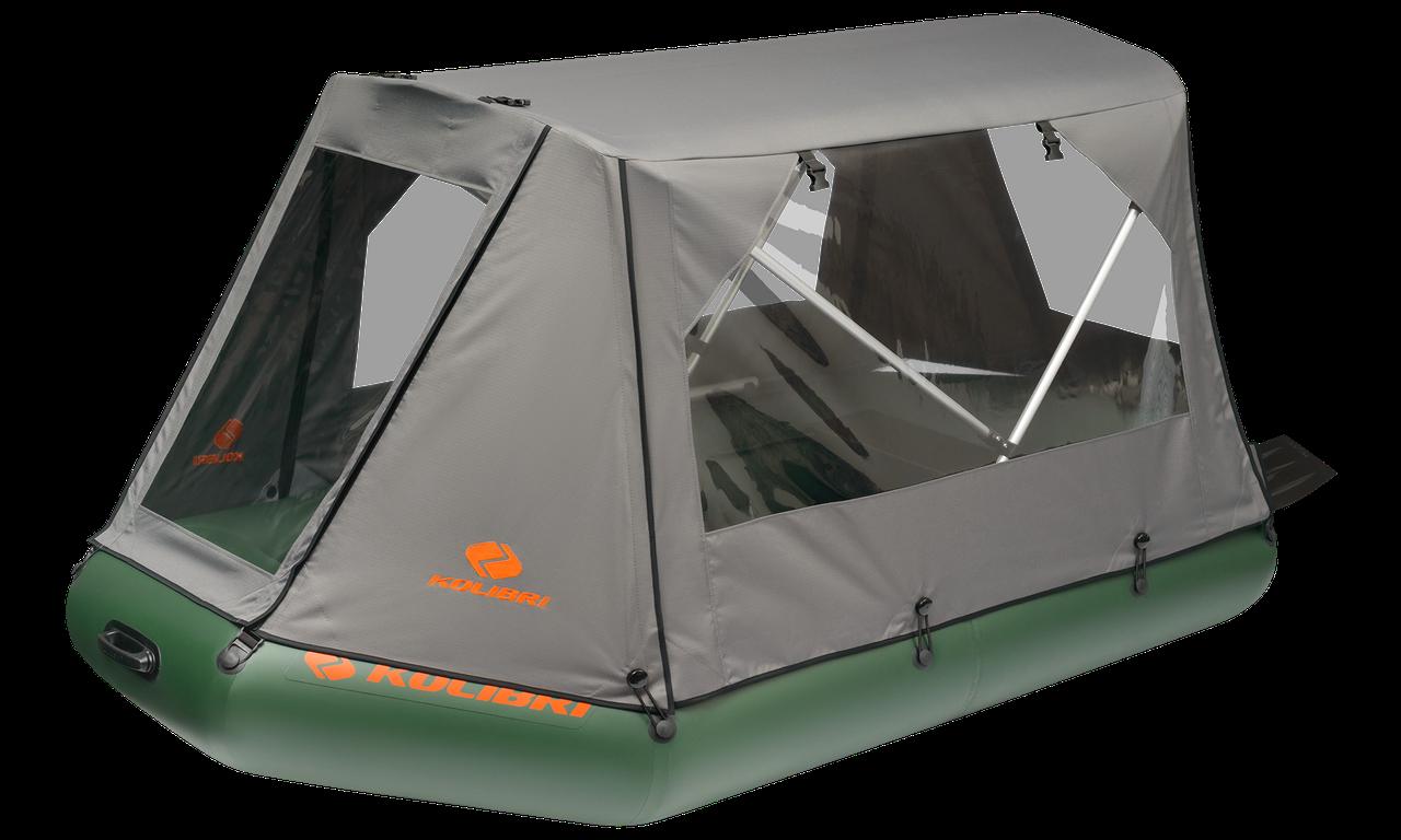 Тент-палатка для надувной лодки КМ-450DSL темно-серый