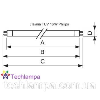 Лампа бактерицидная TUV 16W Philips