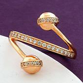Стильне жіноче кільце з медичного золота Xuping. Позолочені кільця. Розмір 17,18,19