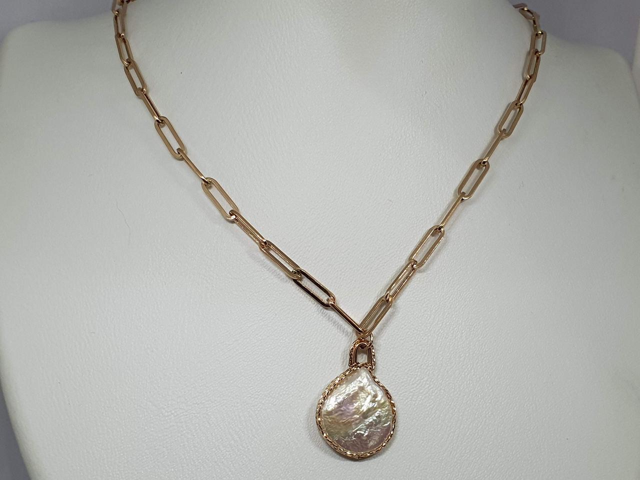 Золоте кольє з перлами. Артикул 811576 45