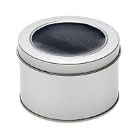 Футляр для флешки металлический круглый подарочный