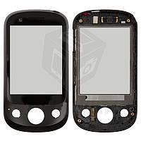 Touchscreen (сенсорный экран) для Huawei U7520, с передней панелью, оригинал (черный)