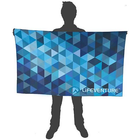 Полотенце Lifeventure Soft Fibre Triangle 150 x 90 см Blue Giant, фото 3