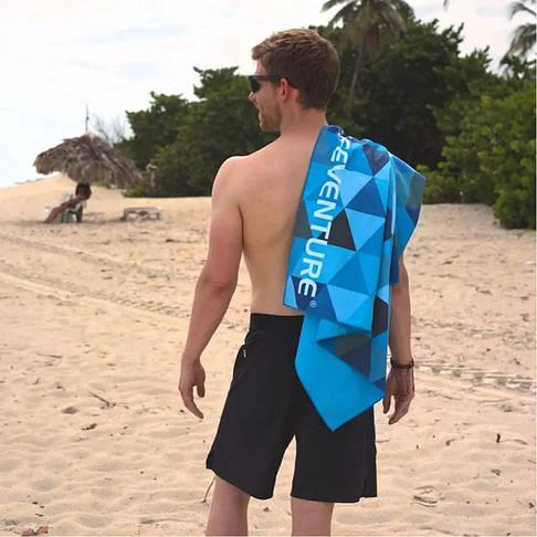 Рушник Lifeventure Soft Fibre Triangle 150 x 90 см Blue Giant, фото 2