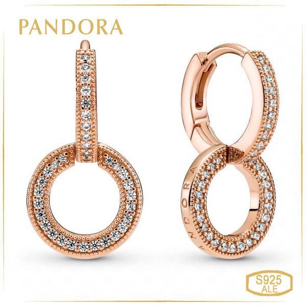 Пандора Сережки з подвійними обручами Rose Pandora 289052C01