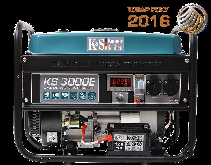 Генератор бензиновий Konner&Sohnen KS 3000E