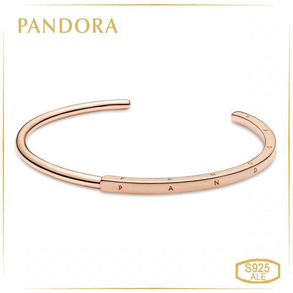 Пандора Браслет-бэнгл открытый Логомания Pandora Rose (16 см) 589493C00