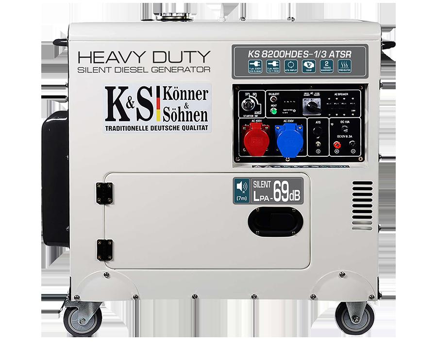 Генератор дизельний Konner & Sohnen KS 8200HDES-1/3 ATSR