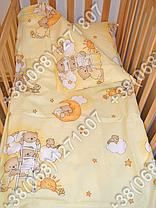 Детское постельное белье и защита (бортик) в детскую кроватку (мишки на лесенке бежевый), фото 3