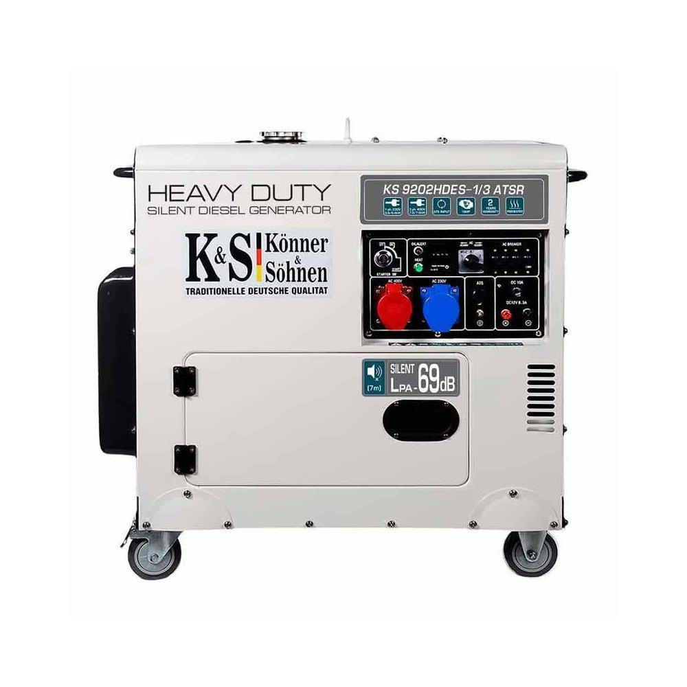 Генератор дизельний Konner & Sohnen KS 9202HDES-1/3 ATSR