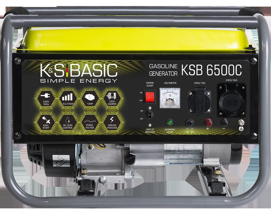 Генератор бензиновий Konner&Sohnen Basic KSB 6500C