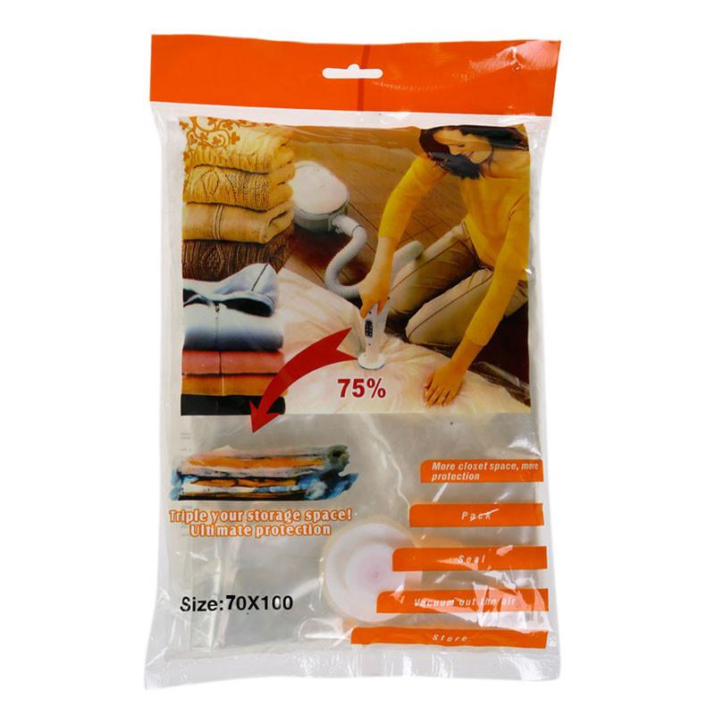 Вакуумные пакеты для хранения вещей Vacuum bags 70*100 см многоразовые
