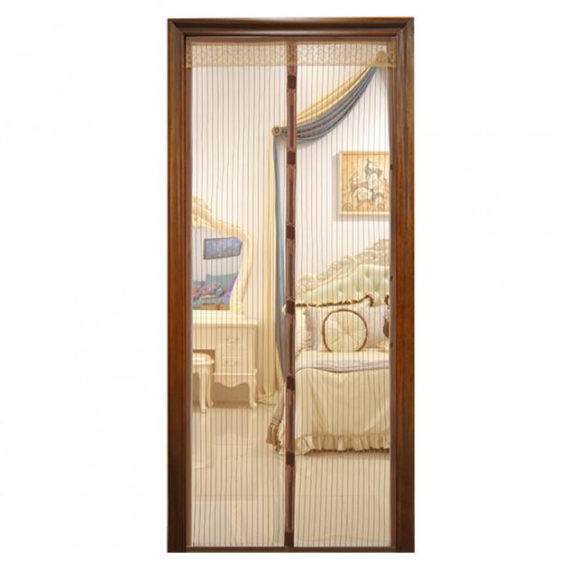 Дверна антимоскітна сітка Magic Mesh 210х100 см Коричнева