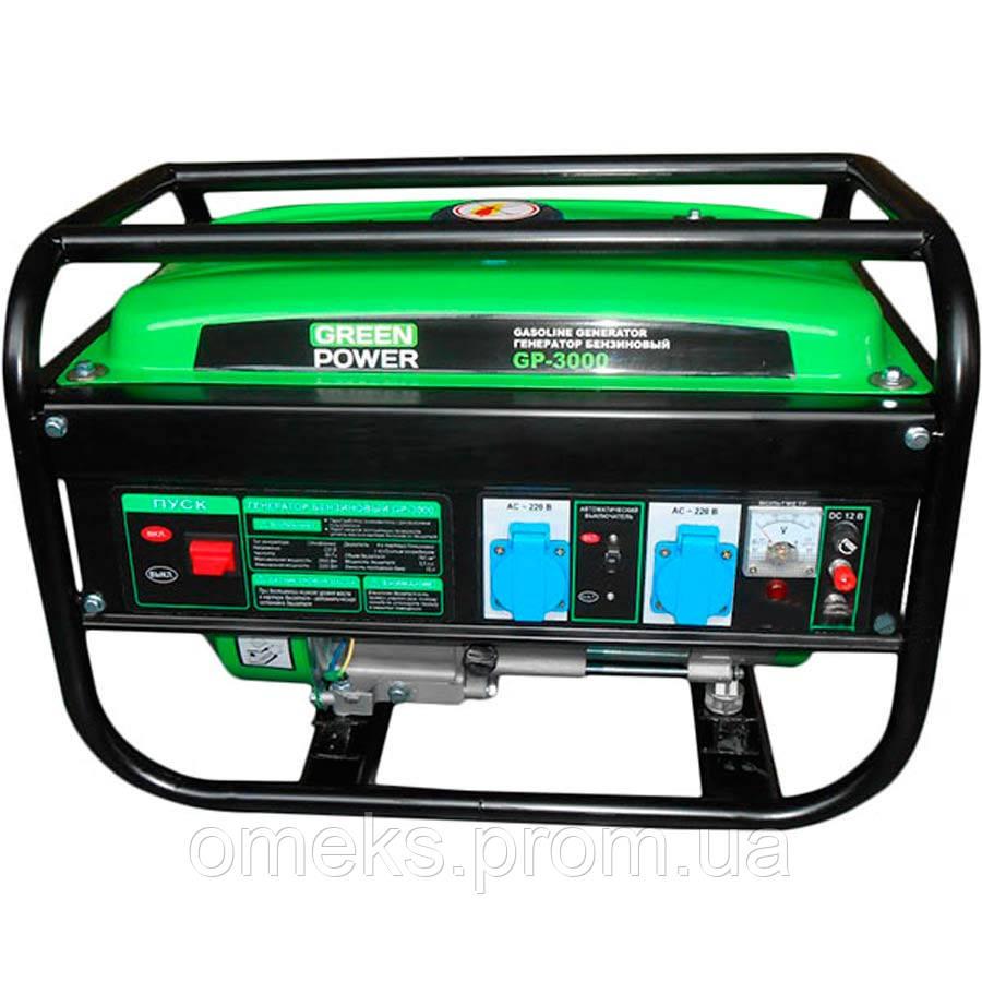 Бензиновый генератор GREEN POWER GP-3000 (4-х тактный, 220V) SVT