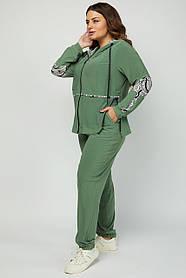 Зручний легкий жіночий костюм з микротрикотажа великі розміри 50 52 54 56 58 60