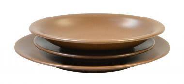 Тарелка керамическая глубокая 22 см Keramia  24-237-014 Табако, фото 2