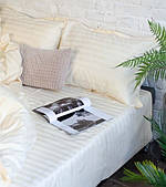 Комплект постельного двуспальный страйп-сатин Bona Vita