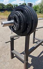 Штанга 185 кг обрезиненная олимпийская