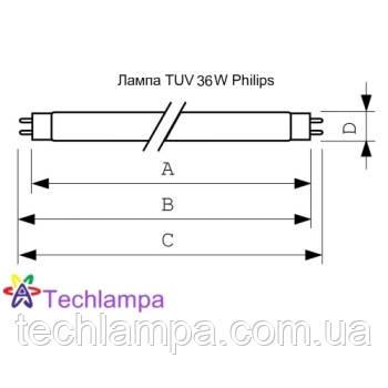 Лампа бактерицидная TUV 36W Philips