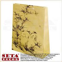 """Подарочный пакет """"Бамбук"""" 39,5 х 30 см бумага крафт. Оптом."""