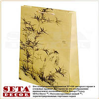 """Подарочный пакет """"Бамбук"""" 39,5 х 30 см бумага крафт"""