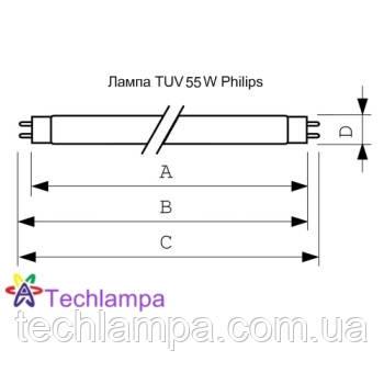 Лампа бактерицидная TUV 55W HO Philips