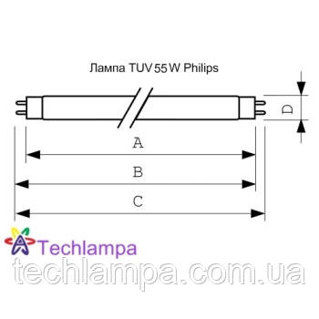 Лампа бактерицидная TUV 55W HO Philips