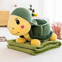 Детская плед игрушка в форме черепахи 60 см