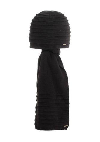 Гарний оригінальний в'язаний комплект шапка і шарф., фото 2
