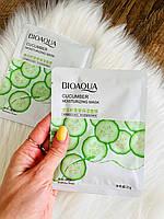 Тканинна маска для обличчя bioaqua cucumber з огірком