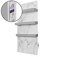 Полотенцесушитель керамический LIFEX Warm Towel 500 | Белый мрамор | инфракрасный с программатором