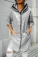 Стильна демісезонна куртка під лак
