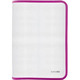 Папка-пенал пластикова В5, фактура: тканина, рожевий E31645-09