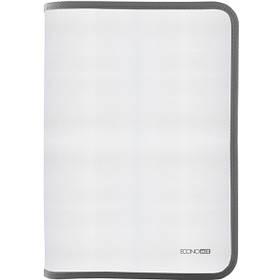 Папка-пенал пластикова на блискавці В5, фактура: тканина, сірий E31645-10