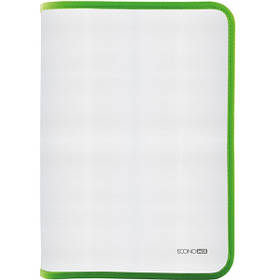 Папка-пенал пластикова на блискавці В5, фактура: тканина, салатова E31645-13